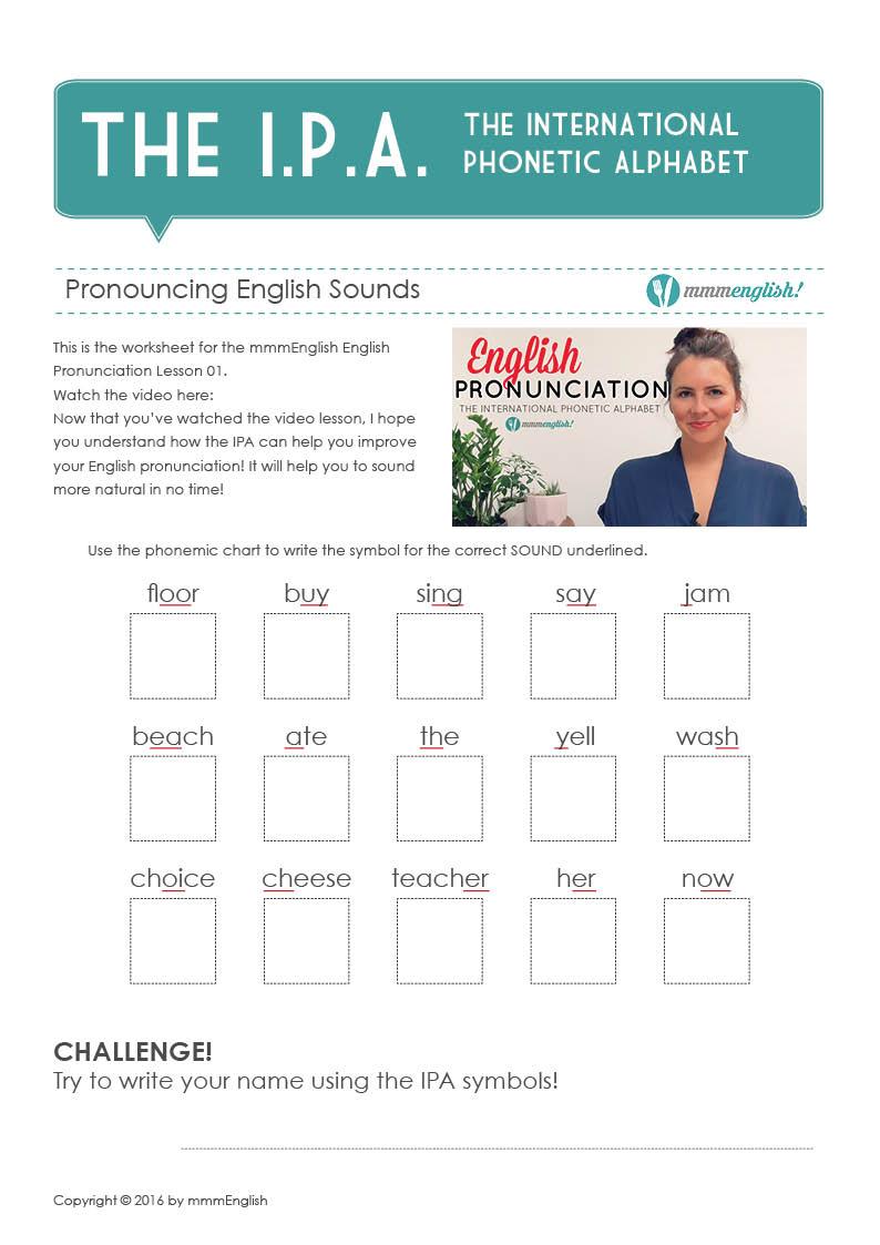 Worksheet IPA Pronunciation  mmmEnglish grade worksheets, math worksheets, education, multiplication, alphabet worksheets, and learning Phonetic Alphabet Worksheet 1123 x 794