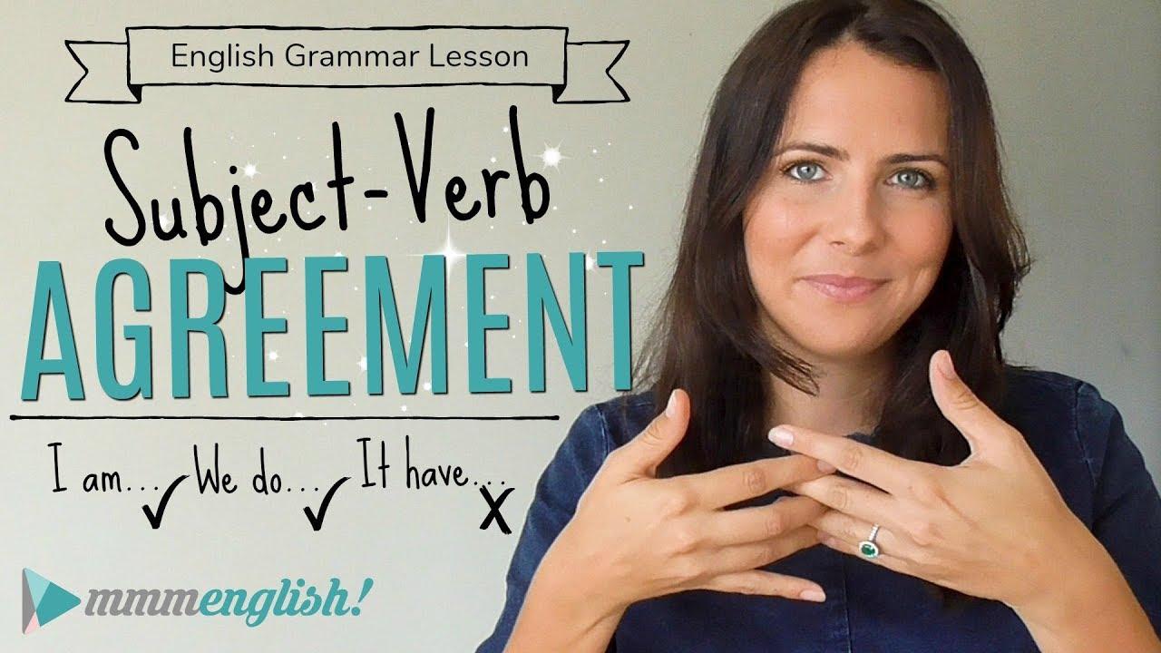 Subject Verb Agreement English Grammar Lesson Fix Common